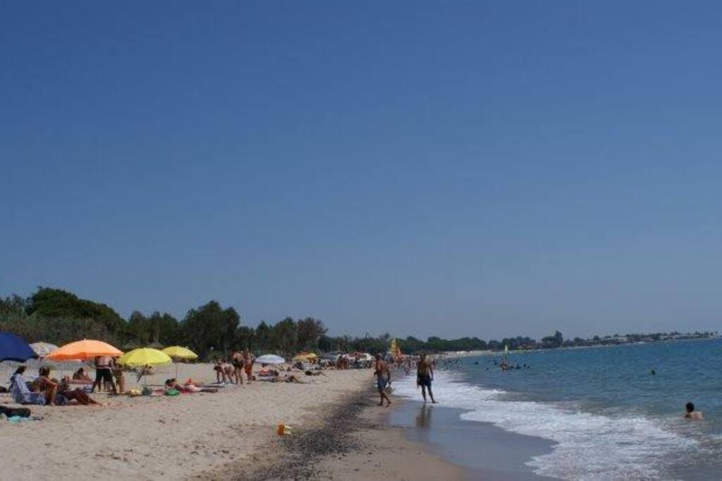 Playa en el mes de Agosto