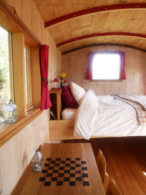 Simple luxury...with sheepswool insulation and cedar boarding it smells amazing and is snuggly warm.