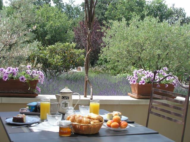 Camera di charme, terrazza, B&B Lacoste Luberon