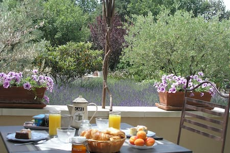 Charming B and B with terrace Lacoste  Luberon 4 - Lacoste - Bed & Breakfast