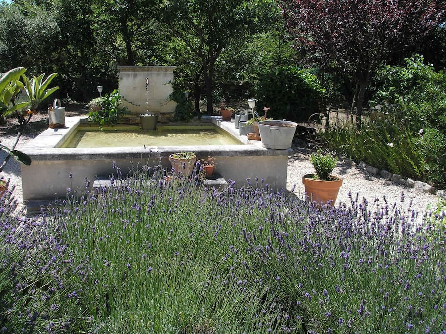 An outdoor picnic area with tables and chairs is at your disposal near the fountain, in order to appreciate the products of the markets of Provence.