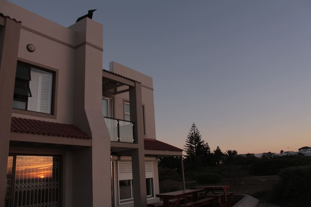 Sunset's are beautiful at the Melkbos ocean-front house