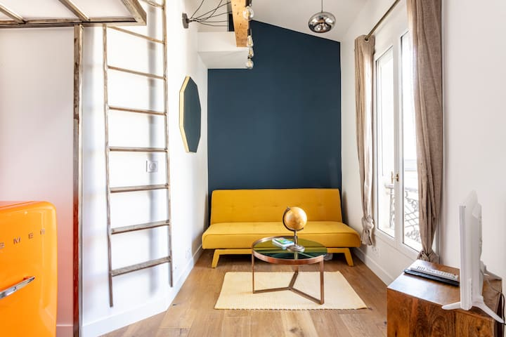 Brand new little LOFT at heart of  historic MARAIS