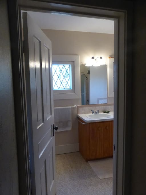Shared or Private Bathroom near your room on the same landing, depending upon whether anyone else has booked the Night Owl Room.