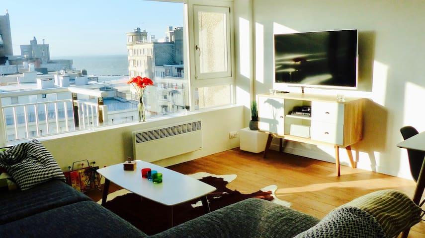 Ostend exclusive 2 bed apartment near beach & city - West Flanders - Selveierleilighet