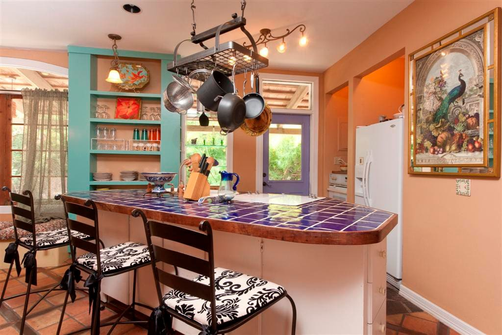 Casa Mariposa is equipped with a full kitchen.