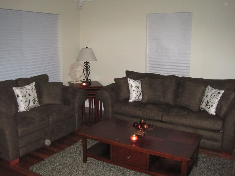 Living Room with Queen Size Convertible Sofa