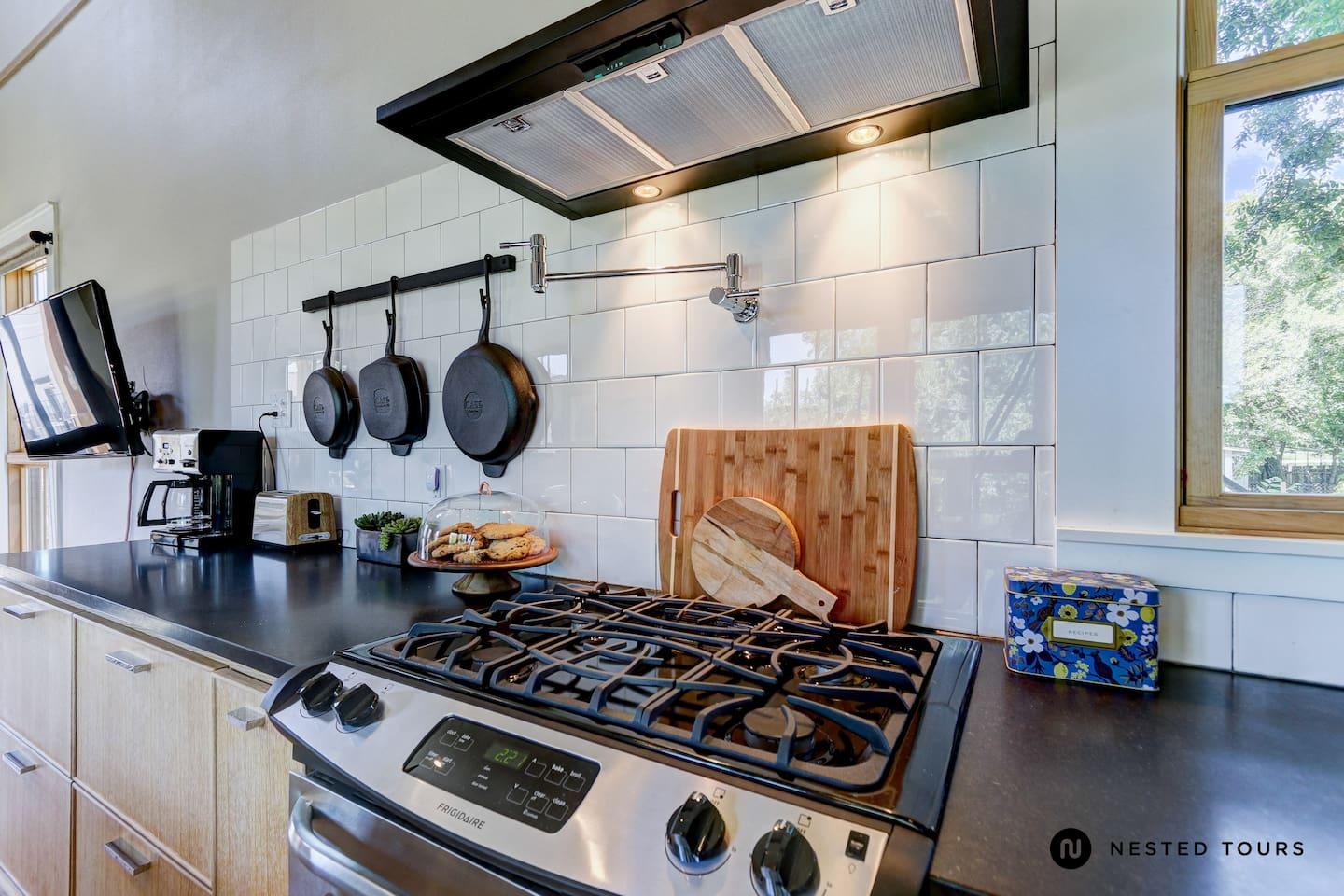 Waco has amazing restaurants.  However, if you want to eat in our spacious kitchen- we have all you will need!