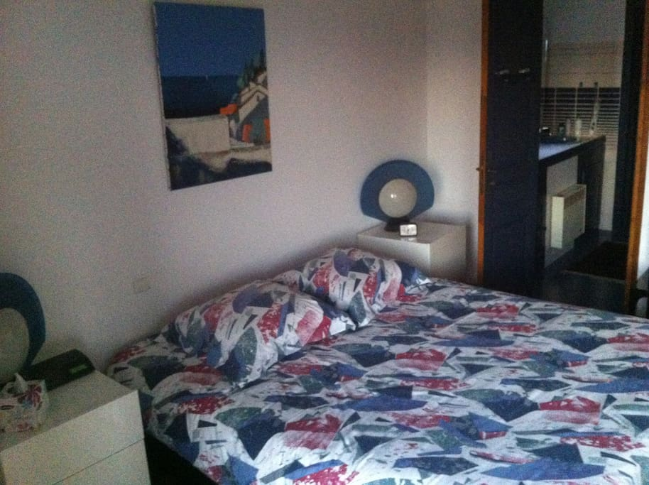 une chambre vaste et très claire avec SDB contiguë