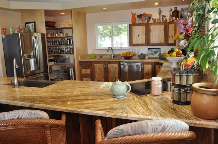 We offer farm to table meals and culinary classes in our lovely custom Kitchen