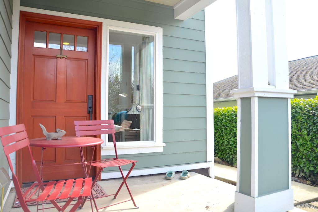 Porch and door to Goat Hill Apt.