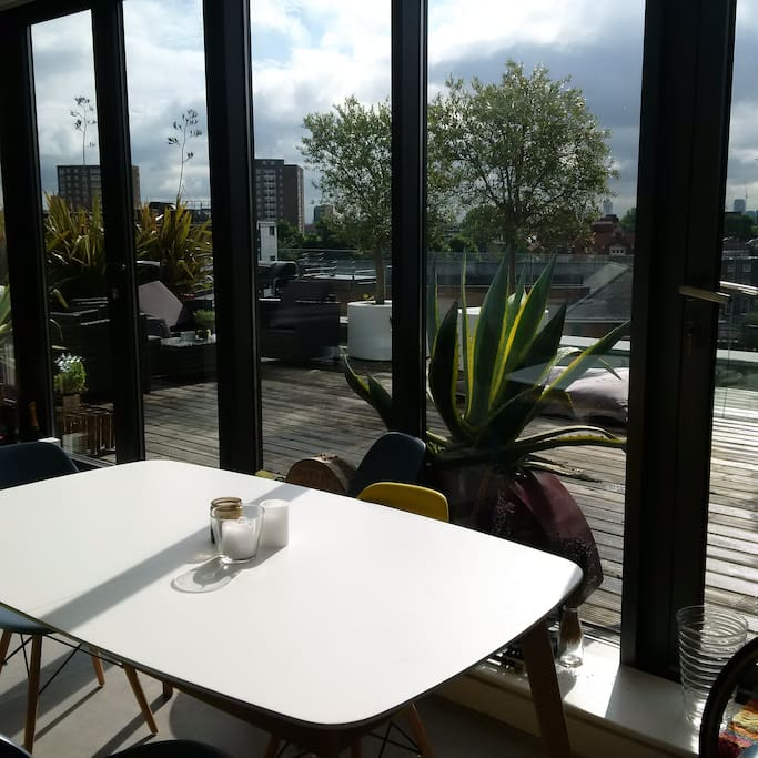The amazing terrace with views of south London
