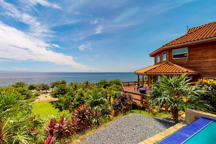 Stunning Hillside Home w/ Infinity Pool, Private Sandy Beach & Overwater Palapa