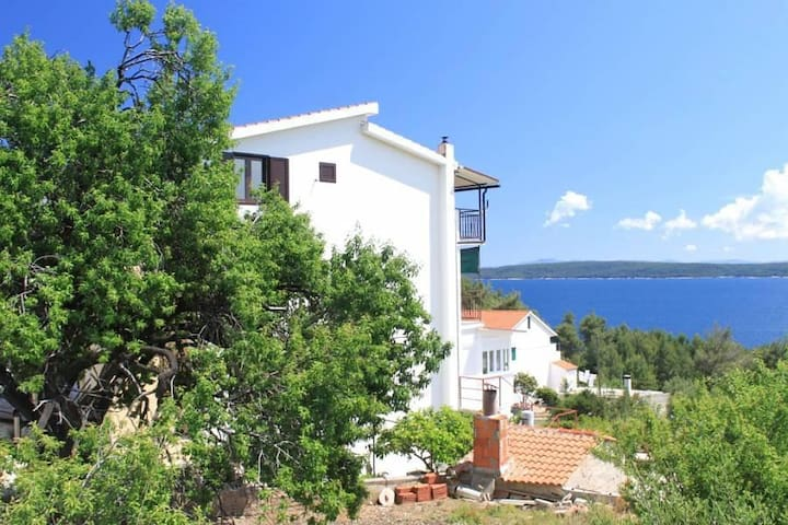 Two bedroom apartment with terrace and sea view Zavala, Hvar (A-8784-c) - Zavala - Lägenhet