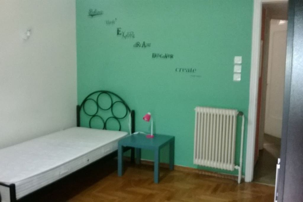 The rooms have different colours so when you make your reservation it is better you request the colour of the room you are more interested in. So, there is the purple,pistachio, coral and rainbow room. The room with view to acropolis is the purple one