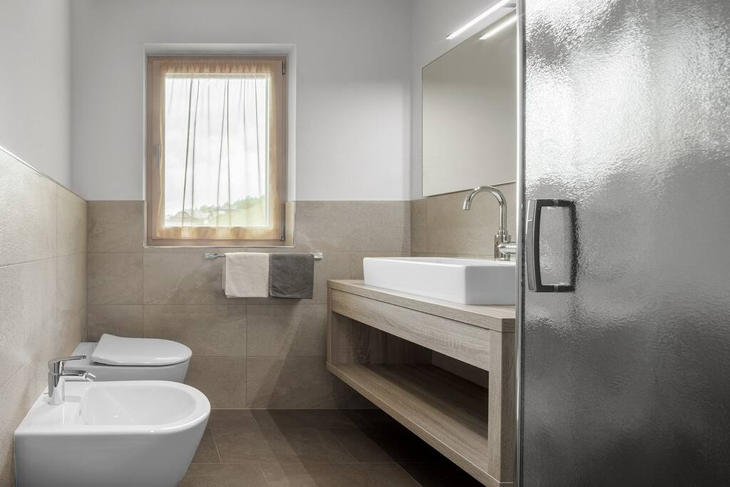 Bathroom with hair-dryer