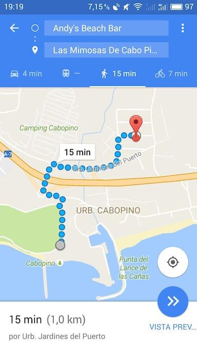 distancia a la playa andando https://www.youtube.com/watch?v=F8eTK1iIUfQ