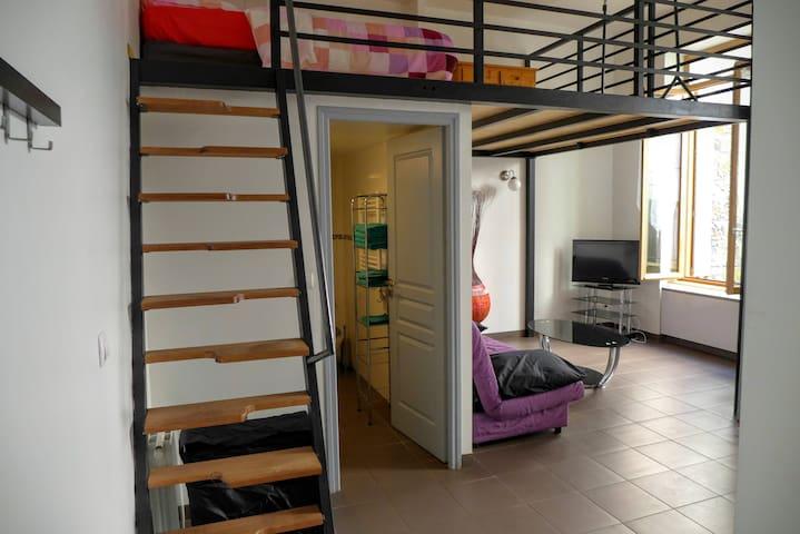 Cité design, avec mezzanine et cour - Saint-Étienne - Apartemen