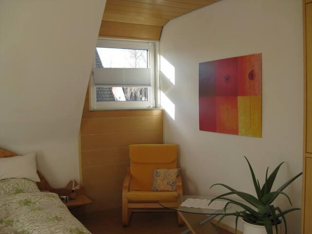 Sonniges, geräumiges Zimmer mit Balkon u. Bad