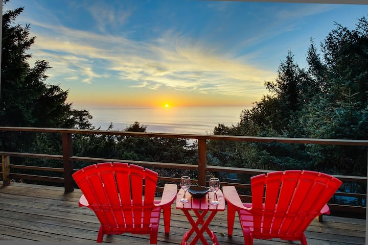 Private hot tub and beautiful views await at this dog-friendly home!