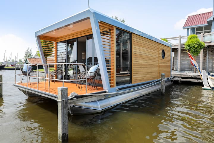 Skoft (Pauze) luxe houseboat met geweldig uitzicht