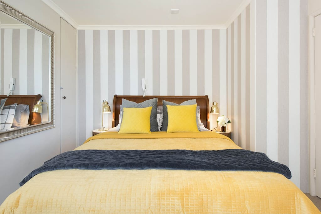 Sleep in a luxuriously comfortable queen bed