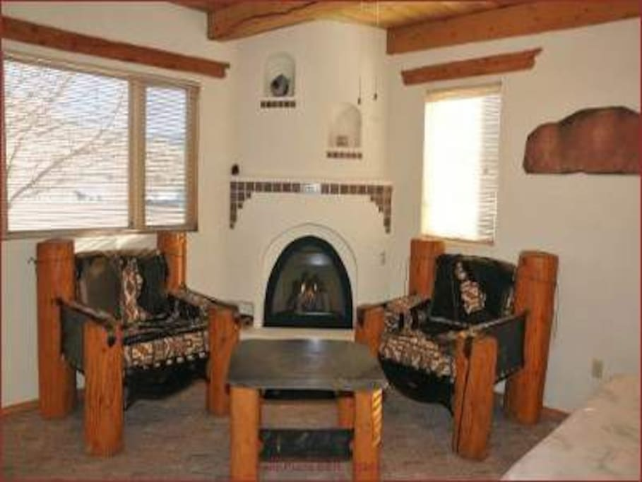 Kiva style fireplace and relaxation furniture!