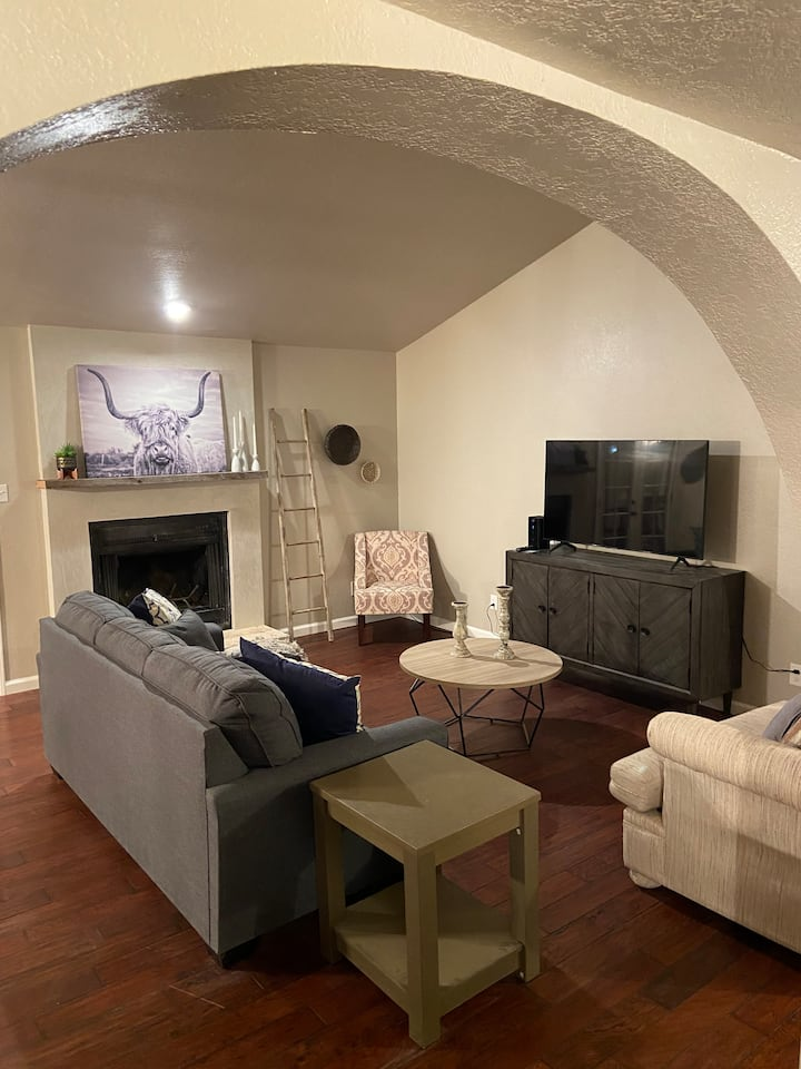 Relax in this newly remodeled Pueblo style home