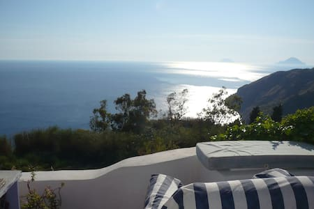 romantic getaway sea view , pool - Lipari
