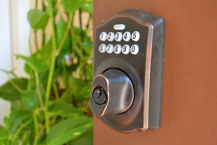 Code Lock used to enter home - provided via messages prior to arrival