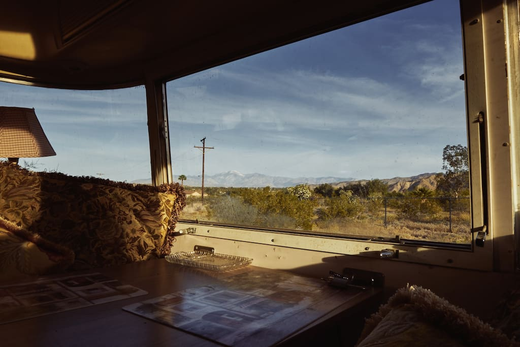 mountain views out of dining area window