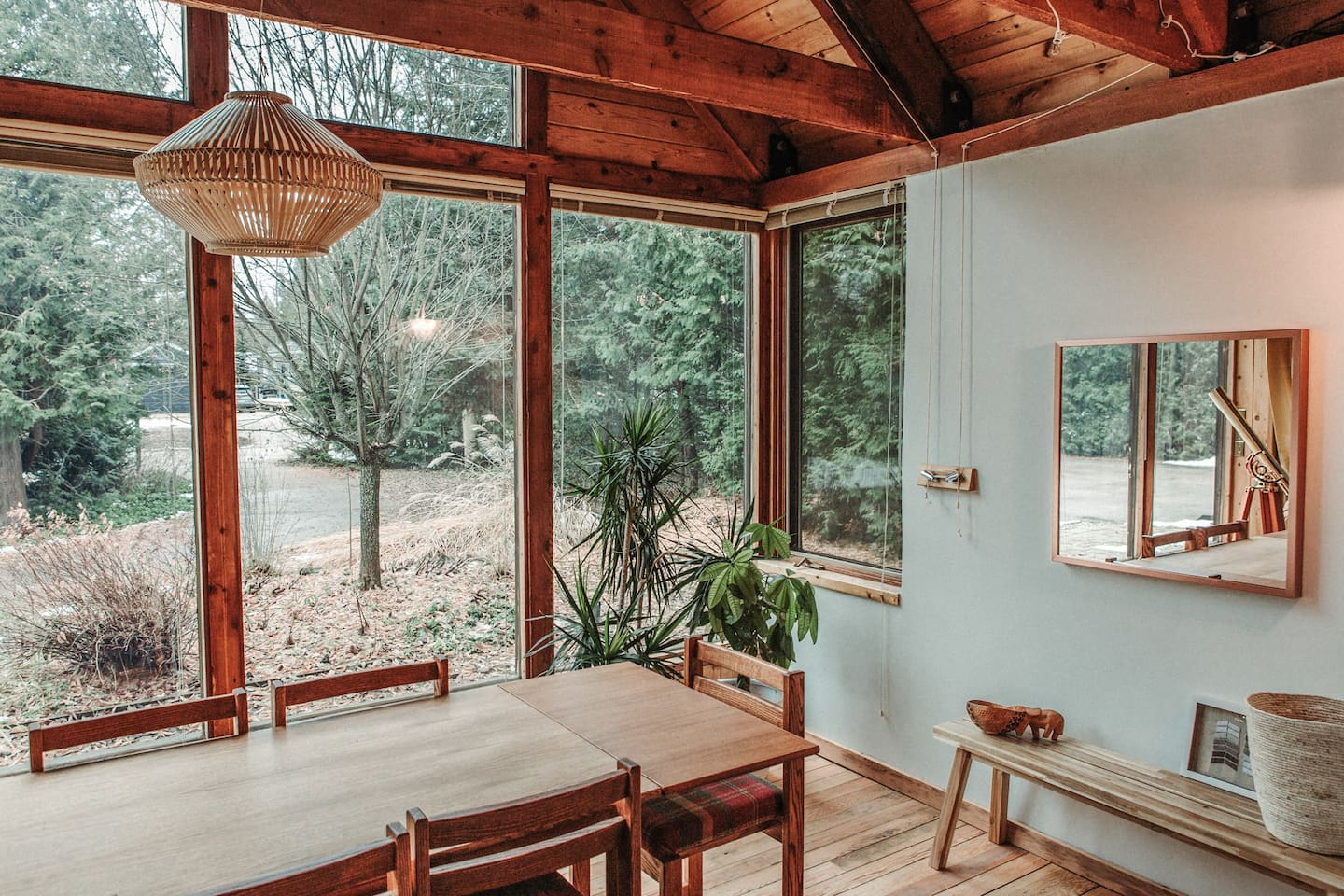 Dining room view to the private cul-de-sac