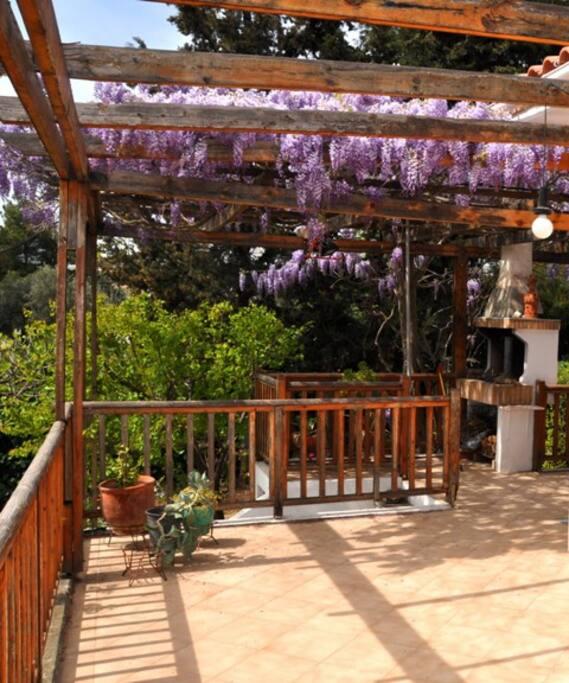part of the veranda