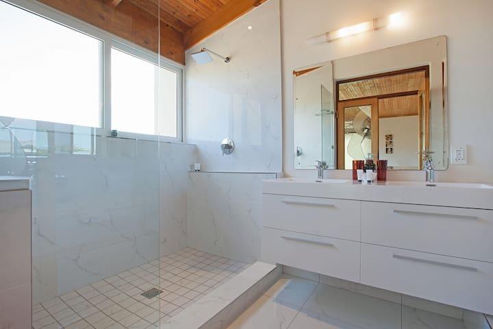 Room Five Bathroom (Twin Shower with Bath).