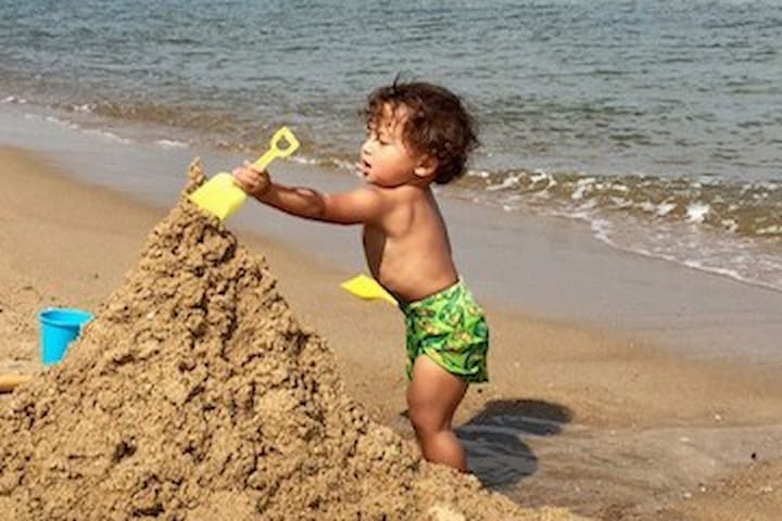 Smooth sand - great for sandcastles!