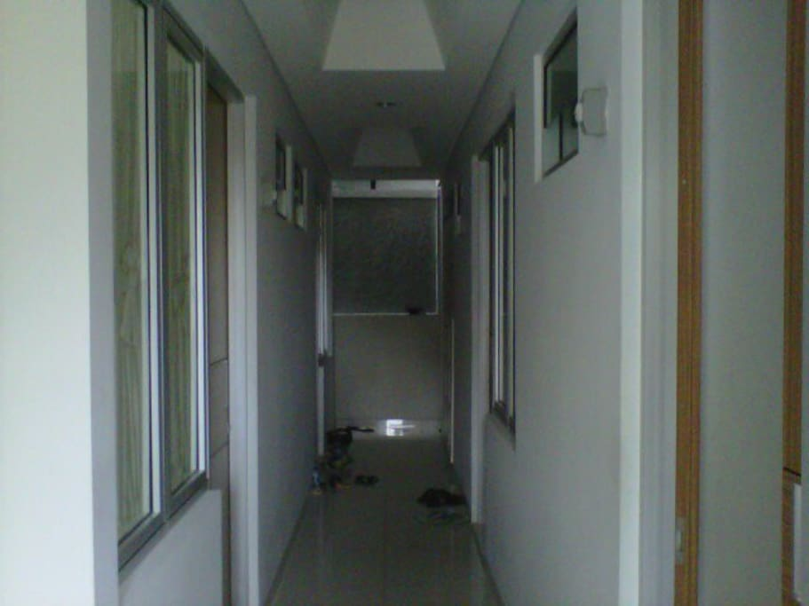 The aisle between rooms