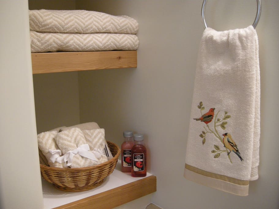 Luxury and Comfort in Every Room with Hotel Quality Bed, Linens, and Towels