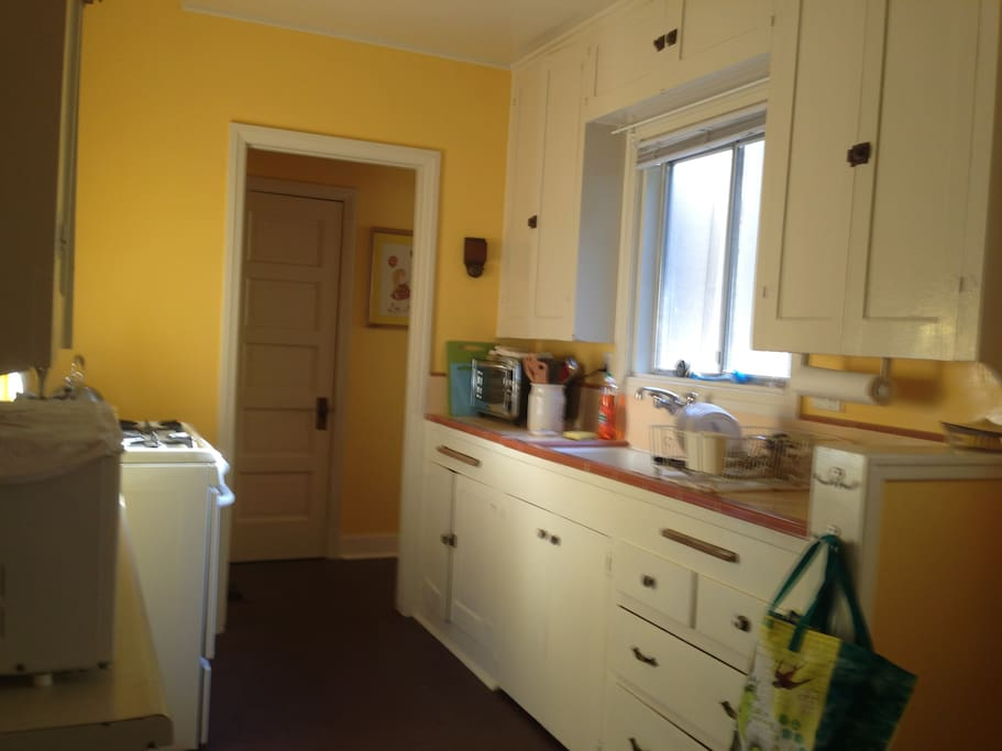 Looking into the kitchen from Dining room
