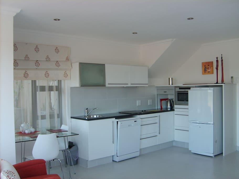 Fully equipped kitchen, fridge freezer, dishwasher, oven, microwave,