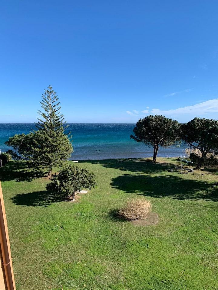 Corse Moriani Studio terrasse vue mer plage 30m