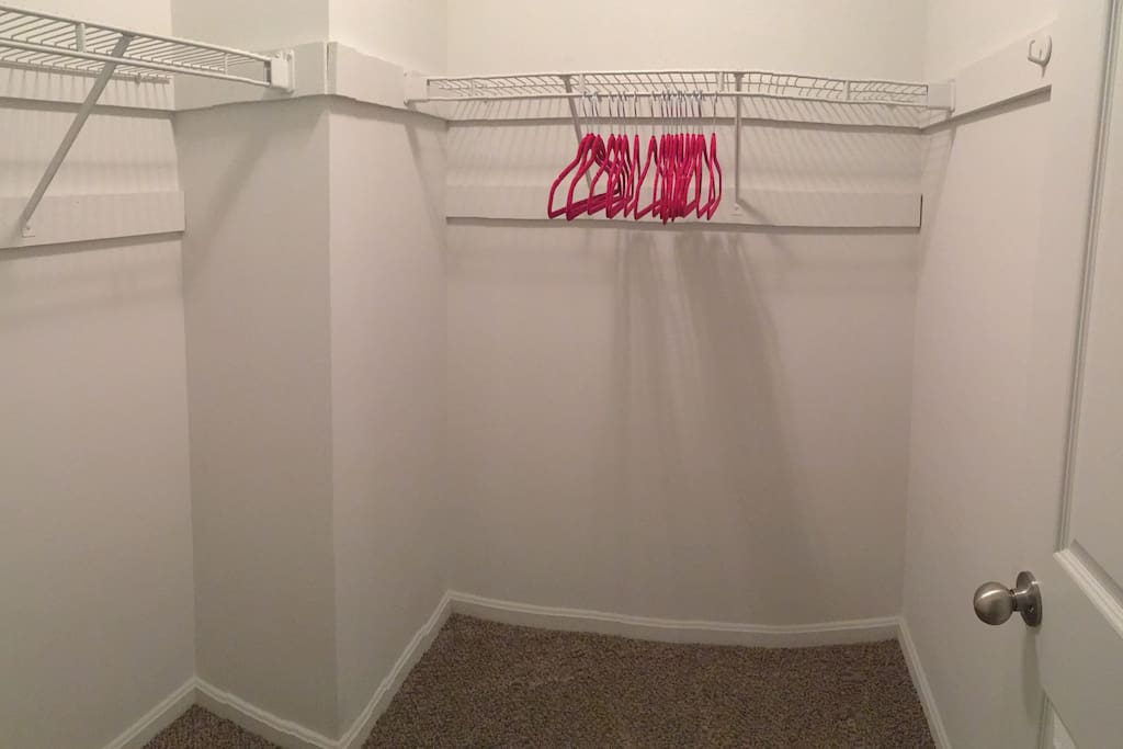 Walk in closet with plenty of room for your cloths.