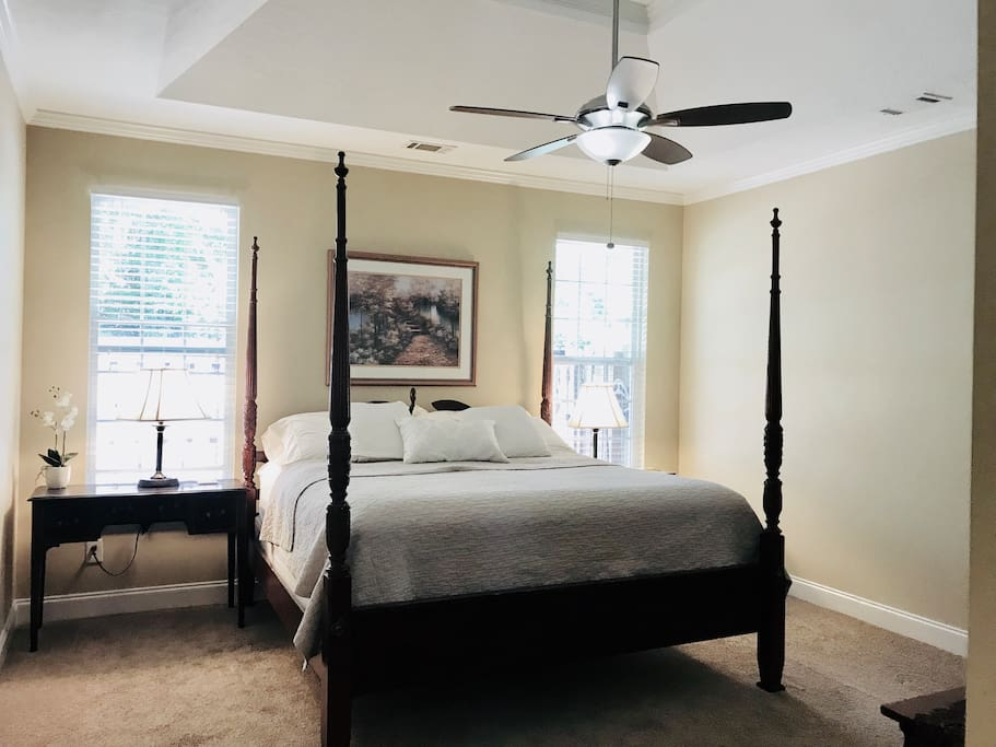 Master Bedroom with king bed ! Southern style charm and comfort!