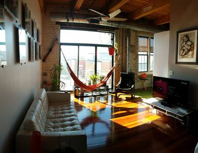 Modern luxury loft close to Boston with parking - Everett - Loft