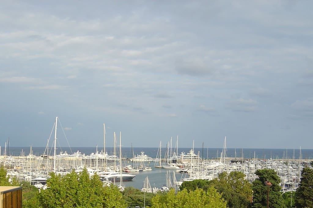 The famous International Yacht Club Antibes from the balcony