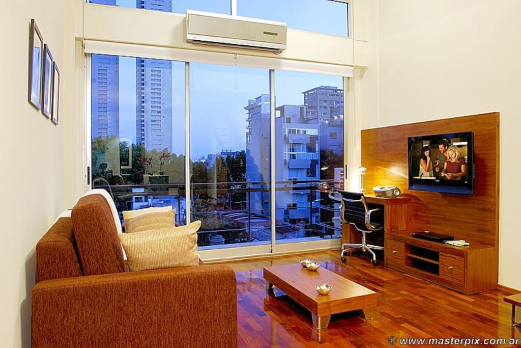 Sitting area, balcony and views