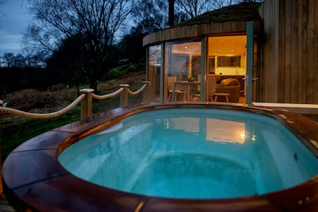 Roundhouse and Hot Tub