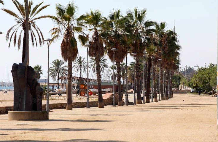A 30metros de la playa cerca de Barcelona con wifi