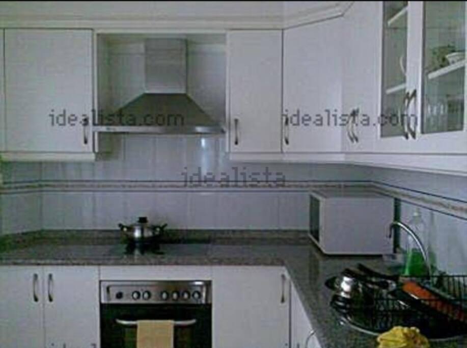 cocina con lavadero
