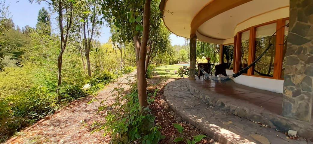 Cabaña del Río 1, con piscina privada