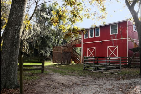 NEW Barn Cottage at Crews Lake Farm~40mi to Disney